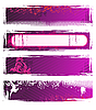 Vector clipart: pink grunge banners
