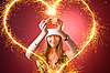 ID 3022436   Attractive girl drawing heart    High resolution stock photo   CLIPARTO