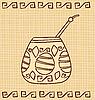 Векторный клипарт: калебас и бомбилья