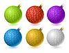 Векторный клипарт: елочные шары