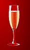 Векторный клипарт: бокал шампанского