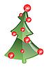 Векторный клипарт: новогодняя ёлка