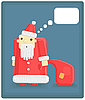 Vector clipart: funny Santa Claus