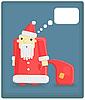 Vektor Cliparts: lustiger Santa Claus