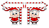 cute Santa helpers with arrows