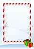 Christmas greeting card with frame