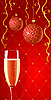Vector clipart: holiday glamour wallpaper with champagne