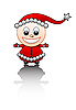 Vector clipart: Little Santa`s helper