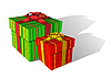 Vector clipart: Two holiday boxes