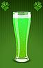зеленый бокал пива
