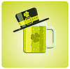 Vector clipart: green beer and hat