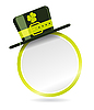 Vector clipart: label with hat for St. Patrick Day