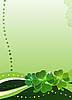 Decorative background with four-leafed clover