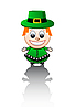Vector clipart: Irish boy
