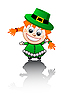 Vector clipart: Irish girl