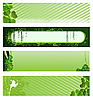 Set of green banners  | Stock Vector Graphics