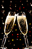 Two champagne glasses making toast | Stock Foto
