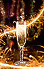 Photo 300 DPI: New Year card with champagne