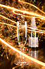 New Year card with champagne glass and sparkles  | Stock Foto