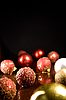 Greeting card with Christmas balls   Stock Foto