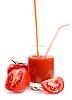 Pomidory i sok pomidorowy | Stock Foto