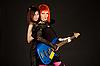 Фото 300 DPI: Рок девушки с бас-гитарой