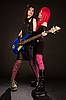 ID 3023365   Two rock girls with bass guitar   High resolution stock photo   CLIPARTO