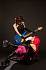 ID 3023367 | Sexy rock girls with bass guitar | High resolution stock photo | CLIPARTO