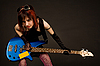 Sensual girl with bass guitar  | Stock Foto