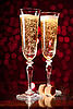 Photo 300 DPI: Two crystal champagne glasses