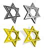 Reihe von jüdischer Sterne