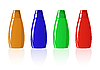 Vector clipart: colored shampoo bottles