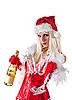 ID 3023513 | Attractive Mrs. Santa with champagne  | High resolution stock photo | CLIPARTO