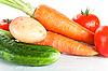 Fresh wet vegetables  | Stock Foto
