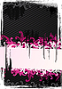 Vector clipart: pink and black wallpaper