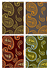 Set of seamless paisley backgrounds
