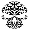 Vector clipart: tribal skull tattoo
