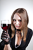 Woman with glass of wine  | Stock Foto