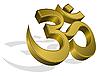 Vector clipart: golden om symbol