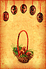Grunge wallpaper with Easter basket  | Stock Illustration