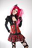 Photo 300 DPI: Attractive gothic girl