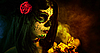 ID 3038298 | Sugar skull girl with dead roses  | High resolution stock photo | CLIPARTO
