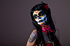ID 3090748   Sugar skull girl with red rose   High resolution stock photo   CLIPARTO