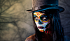 Photo 300 DPI: Sugar skull girl in tophat
