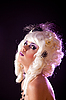 Young woman in white colonial wig | Stock Foto