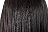 Czarne lśniące proste włosy   Stock Foto