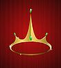 Vector clipart: golden crown with diamonds