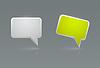 Векторный клипарт: Значки речи пузырь