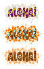 Aloha word | Stock Vector Graphics