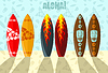 Vector clipart: surf boards